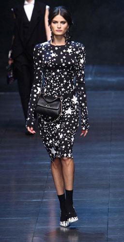 Abito con stelle Dolce&Gabbana Autunno Inverno 2011 2012