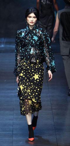 Stelle colorate Dolce&Gabbana Autunno Inverno 2011 2012