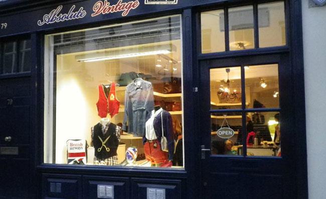 Negozio Absolute Vintage Londra