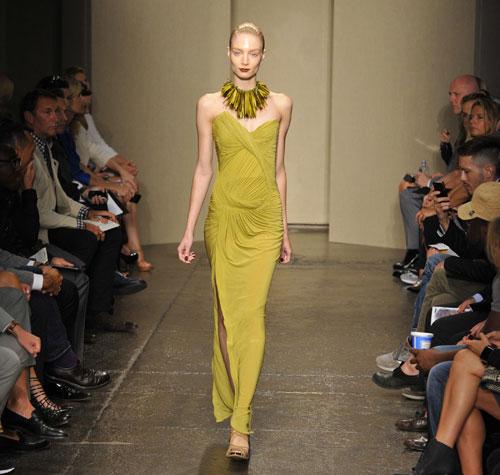 Donna Karan abito lungo verde