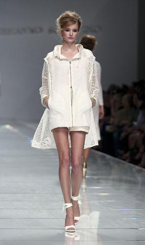 Ermanno Scervino: Cappotto Corto Bianco