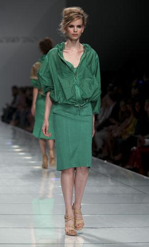Ermanno Scervino: Blusa Verde - Gonna Verde