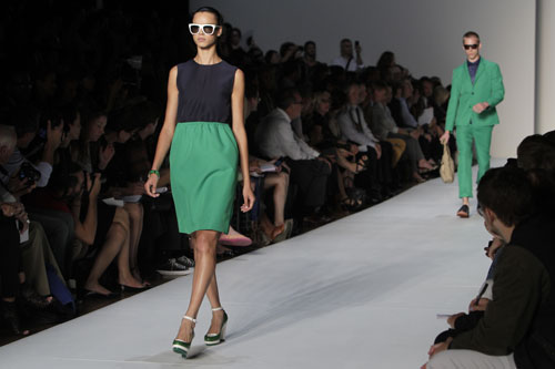 Marc by Marc Jacobs abito verde e blu