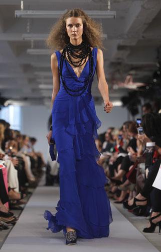 Oscar de la Renta abito blu