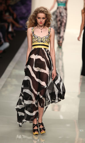 Roccobarocco: abito lungo zebrato