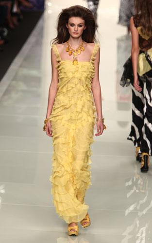 Roccobarocco: abito giallo