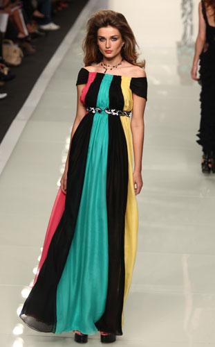 Roccobarocco: abito multicolore