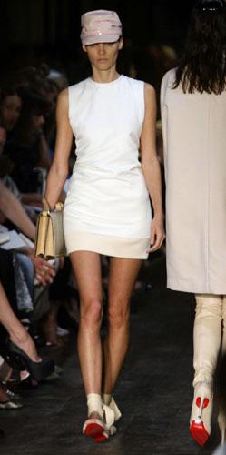 Victoria Beckham abito corto bianco