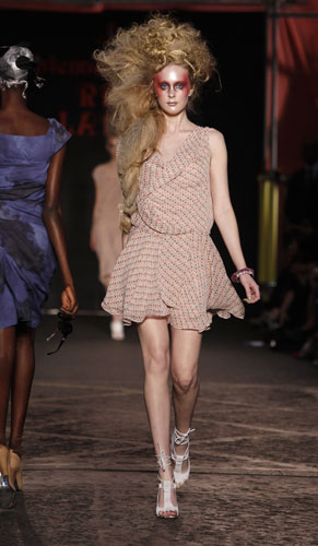 Vivienne Westwood minidress cipria