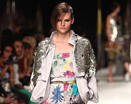 Iceberg: abito fiori - giacca paillettes argento