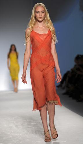 Alberta Ferretti: Abito Corto Arancione