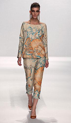 Alviero Martini: maglia - pantaloni carta geografica