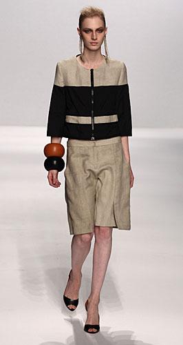 Alviero Martini: completo gonna pantalone bicolore