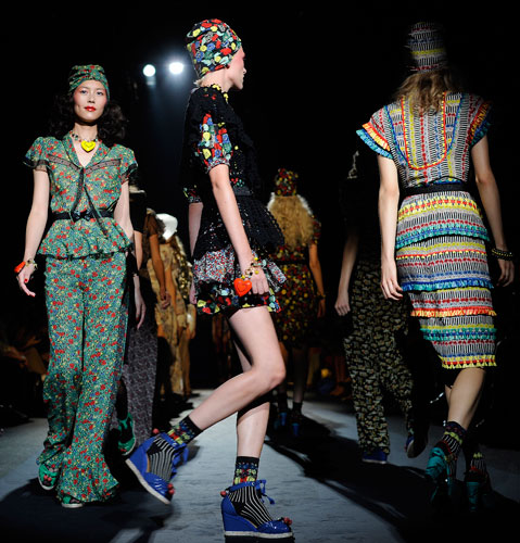 Anna Sui: Modelle in Passerella