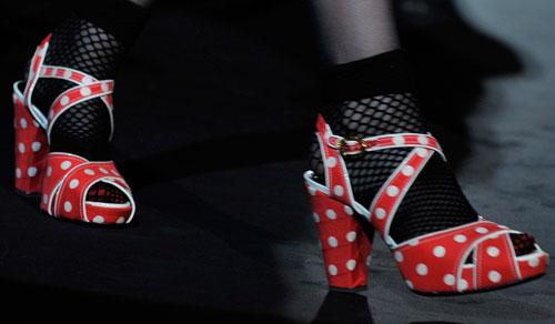 Anna Sui: Scarpe Rosso a Pois