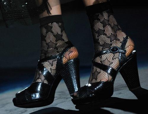 Anna Sui: Scarpe Nere con Tacco