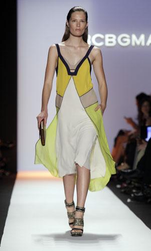 Max Azria abito giallo