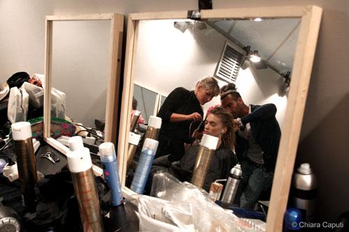 Backstage con specchi