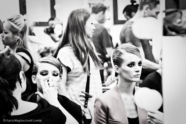 Backstage bianco e nero