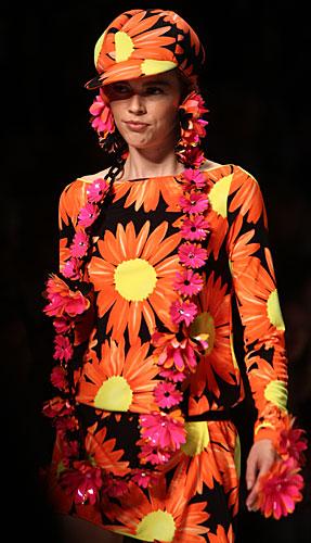 Blumarine: cappello fiori arancio - abito