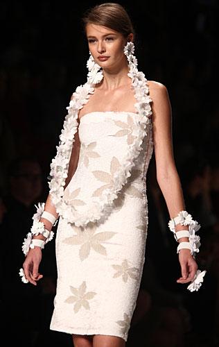 Blumarine: tubino bianco fiori