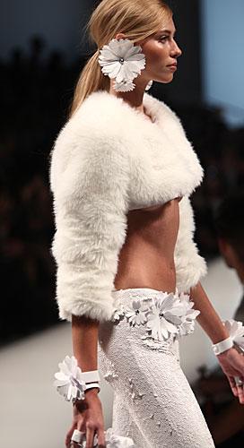 Blumarine: pantaloni bianchi - cinta fiori