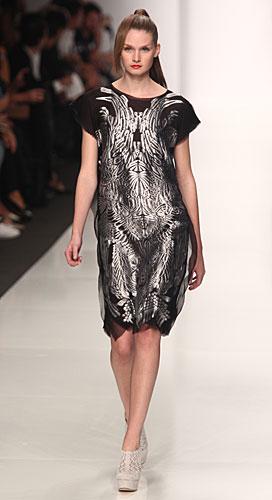 Byblos: abito maniche corte - nero argento
