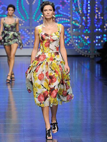 Dolce & Gabbana: Abito stampe giallo rosso bianco