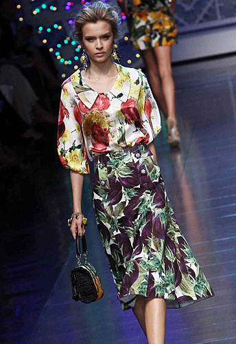 Dolce & Gabbana:  Abito chemisier lungo