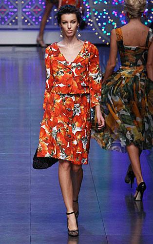 Dolce & Gabbana:  Completo giacca gonna fantasia
