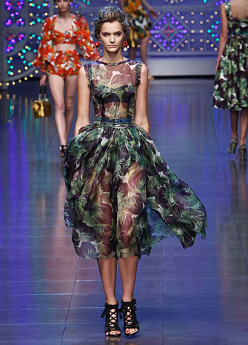 Dolce & Gabbana:  Abito chiffon