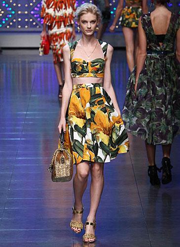 Dolce & Gabbana:  Top - gonna vita alta