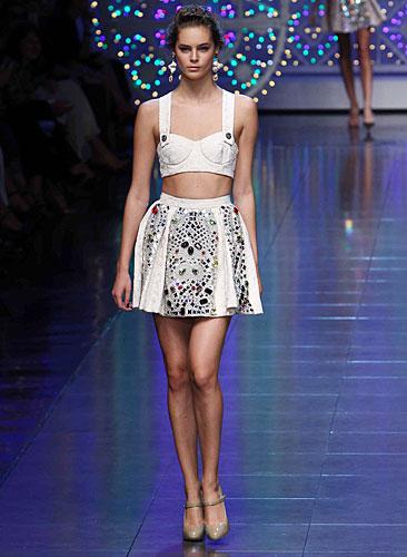 Dolce & Gabbana:  top bianco - gonna