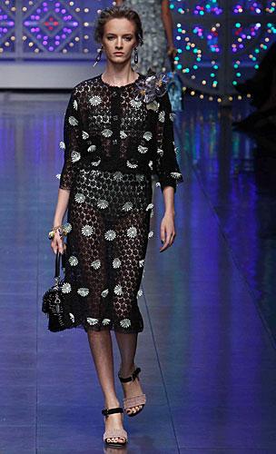 Dolce & Gabbana: Completo gonna nero - fiori