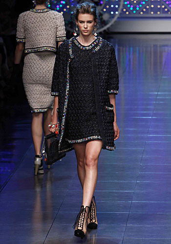 Dolce & Gabbana: Abito nero - giacca lunga
