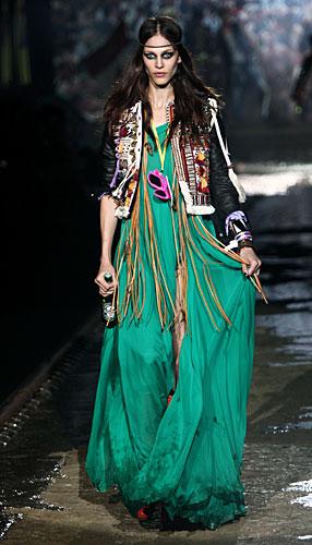 Dsquared2: Vestito lungo verde - giacchina