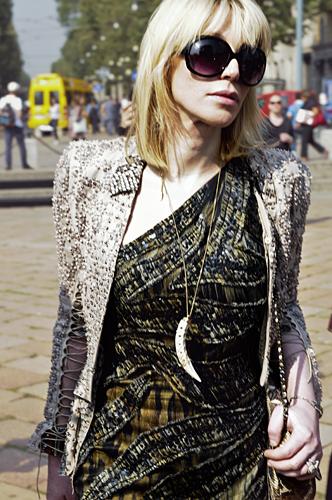 Courtney Love alla sfilata di Roberto Cavalli