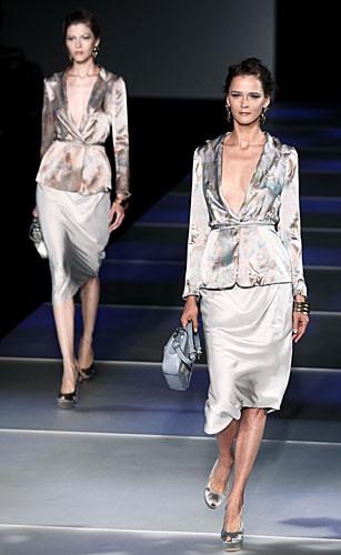 Giorgio Armani: Completo giacca gonna - pochette