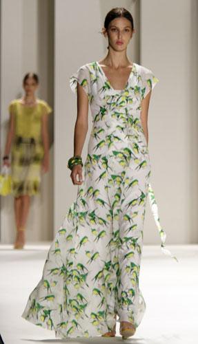 abito lungo stampato Carolina Herrera