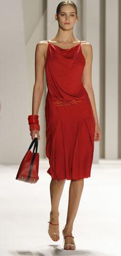 abito rosso Carolina Herrera