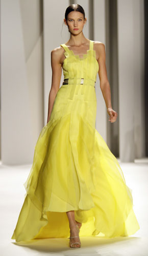Abito da sera giallo Carolina Herrera