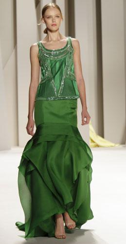Abito da sera verde Carolina Herrera