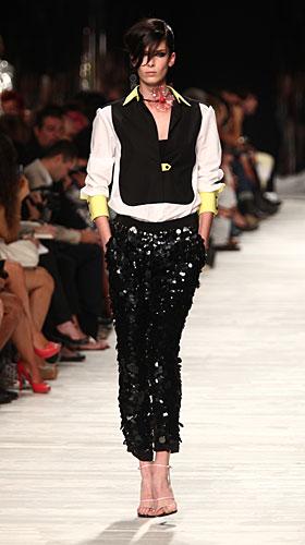 Iceberg: pantaloni paillettes neri