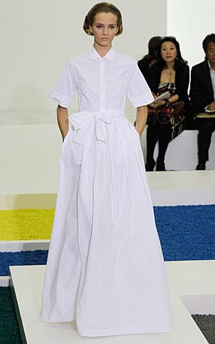 Jil Sander: abito chemisier - gonna ampia