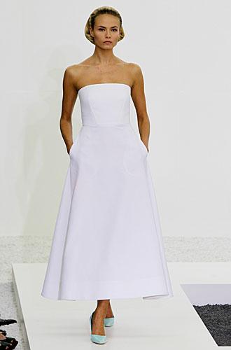 Jil Sander: abito bustier bianco