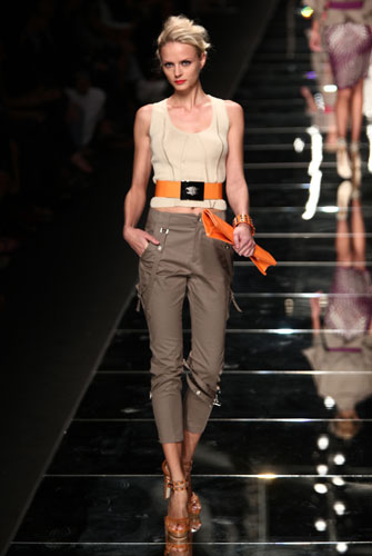 John Richmond: cintura in vita - pochette arancio