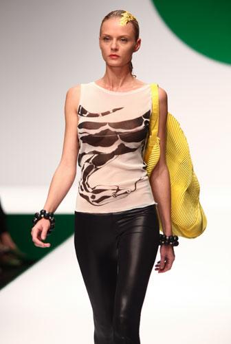 Krizia: maglia senza maniche - borsa gialla