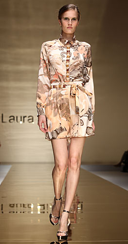 Laura Biagiotti: abito chemisier fantasia - cinta