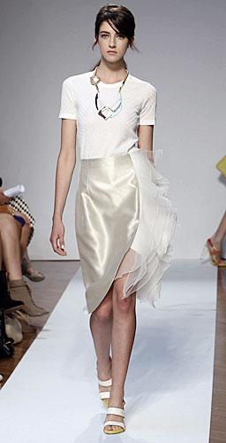 Mila Schon: Maglietta Bianca - Gonna
