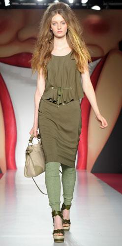 Mulberry: leggins verdi e zeppa